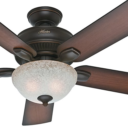 Hunter Baybrook 52 Onyx Bengal Damp Rated Ceiling Fan At: Hunter Fan 52″ Outdoor Ceiling Fan With Light Kit In Onyx