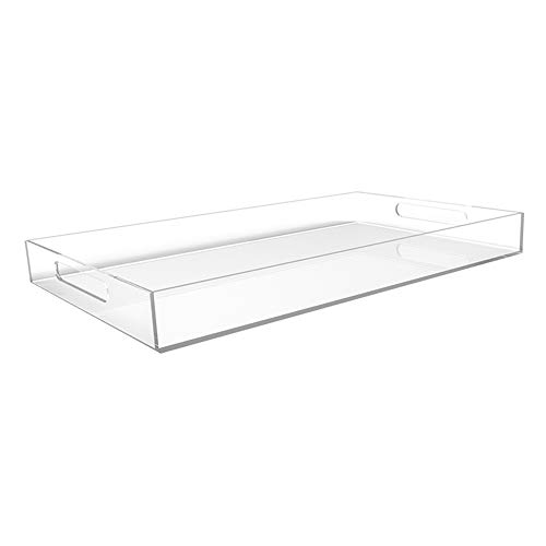 20″ Large Premium Acrylic Tray For Coffee Table, Breakfast