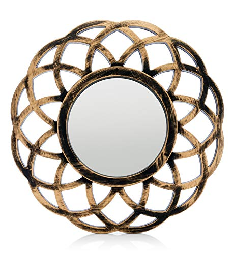 Nikky Home Shabby Chic Metal Wall Hanging Round Mirror